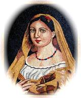 Spanish mother in marble mosaics